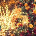 クリスマス・お正月2WAYリース「パープル」
